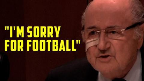 Banned Fifa president Sepp Blatter