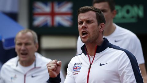 Davis Cup captain Leon Smith