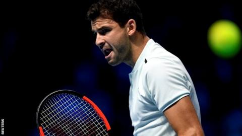 Dimitrov thrashes Goffin to storm into semi-finals