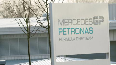 Mercedes factory sign