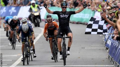 Ian Stannard wins the final stage of the 2017 Herald Sun Tour