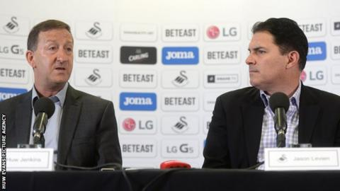 Huw Jenkins (left) with Jason Levien
