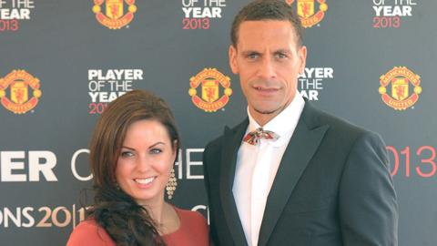 Rio Ferdinand with Rebecca Ellison in 2013