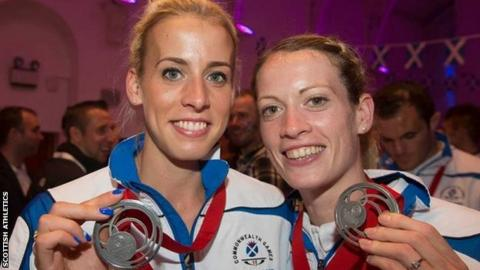 Lynsey Sharp and Eilidh Doyle