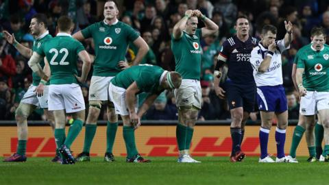 Ireland react to France win