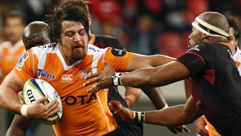 Cheetahs playing against Southern Kings in Super Rugby