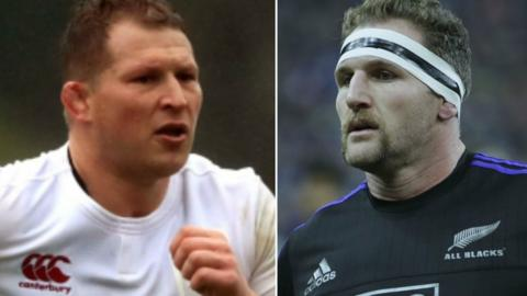 England captain Dylan Hartley and New Zealand captain Kieran Read