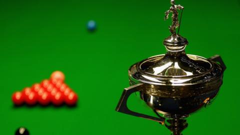 The Snooker World Championship trophy