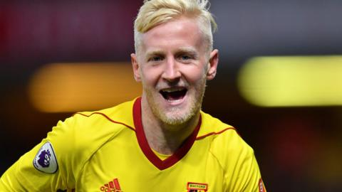 Will Hughes celebrates