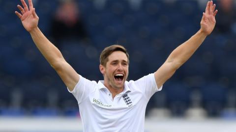 England's Chris Woakes