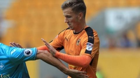 Wolves midfielder Lee Evans