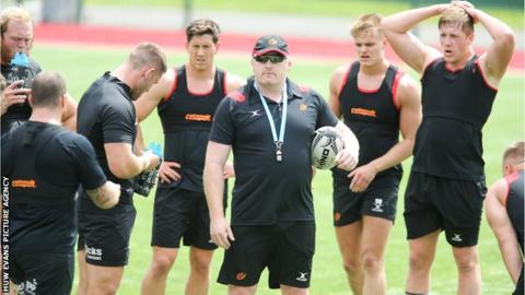 Dragons head coach Bernard Jackman