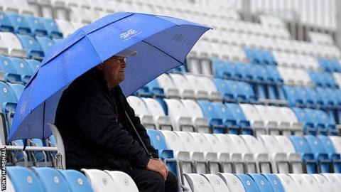 Rain stopped play at Derby