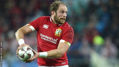 Alun Wyn Jones in action for the British and Irish Lions