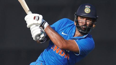 Yuvraj Singh bats