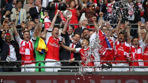 Arsenal win the FA Cup
