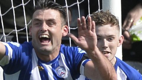 Eoin Bradley scored in Coleraine's 2-0 win at Crusaders