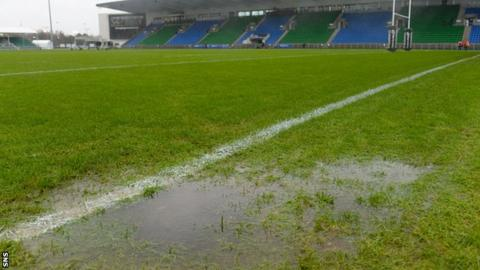 The pitch at Scotstoun was deemed unplayable