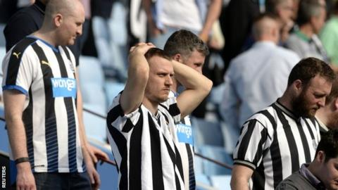 Newcastle supporters