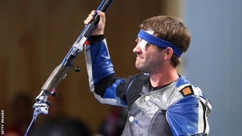 First a gaffe, then gold for German shooter Henri Junghaenel