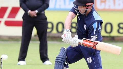 Ed Joyce hit eight four and a six in his unbeaten innings at Oak Hill on Tuesday