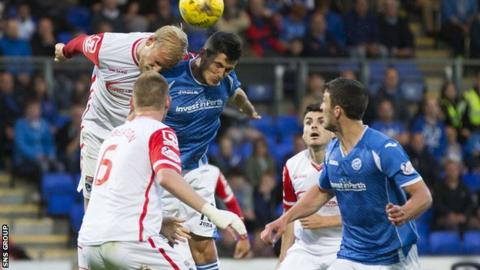 County and St Johnstone drew 1-1 in Perth earlier this season