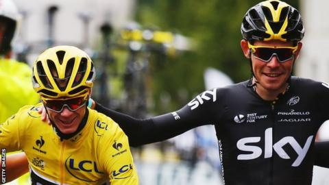 Chris Froome and Luke Rowe