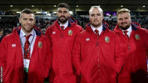 Wales quartet Gareth Davies, Cory Hill, Kristian Dacey and Tomas Francis