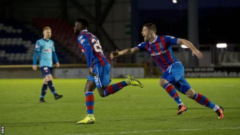 Larnell Cole celebrates scoring