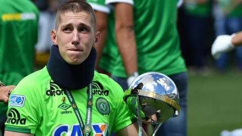 Brazilian Chapecoense goalkeeper Jackson Follmann