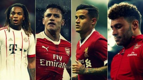 Renato Sanches, Alexis Sanchez, Philippe Coutinho and Alex Oxlade-Chamberlain were each a focus of the summer transfer window