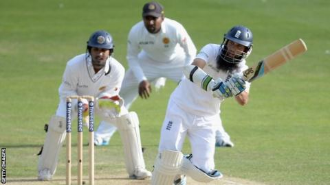 Moeen Ali bats against Sri Lanka