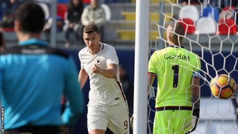 Nainggolan and Dzeko on target in Roma win
