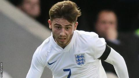 Patrick Roberts in action for England