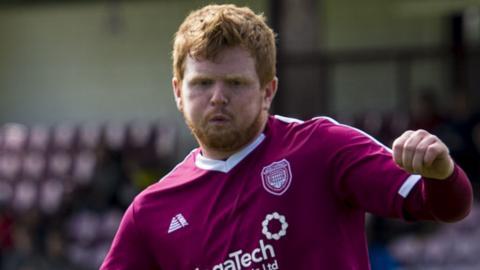 Arbroath's Ryan McCord scored a hat-trick