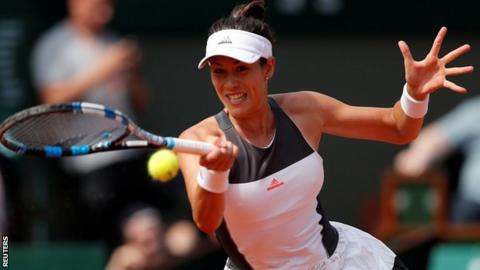 Defending champion Garbine Muguruza in 2nd round
