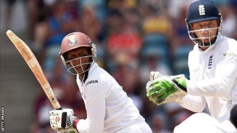Shivnarine Chanderpaul in action against England