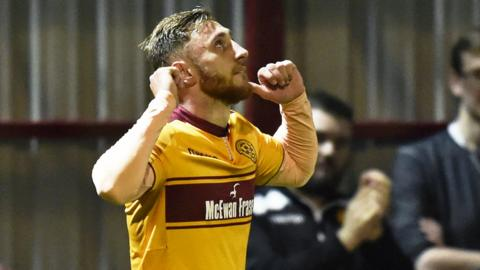 Motherwell scorer Louis Moult