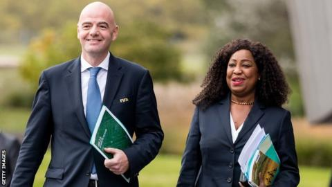 Gianni Infantino and Fatma Samoura