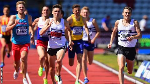The first four home in the 1500m in Birmingham were all Scottish runners