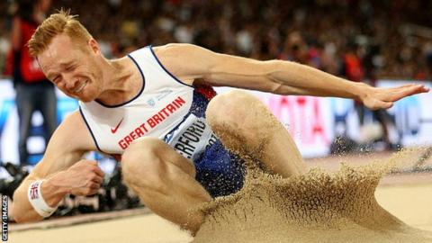 Greg Rutherford jumps