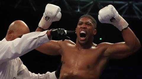 Anthony Joshua puts Wladimir Klitschko on the canvas