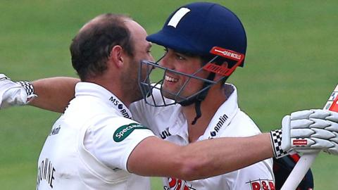 Alastair Cook and Nick Browne