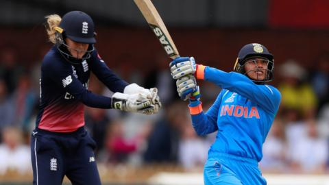 India's Smriti Mandhana hits out against England