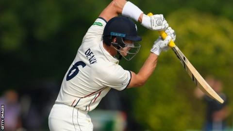 Joe Denly's previous highest first-class score was 206 not out against Northants at Wantage Road in 2016