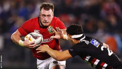Stuart Hogg attacks for the Lions