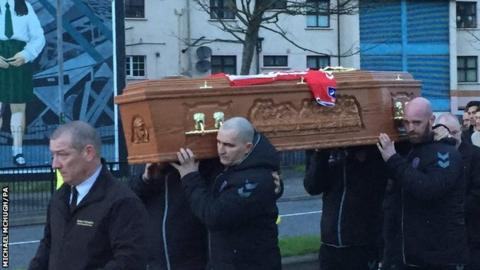 Ryan McBride's coffin