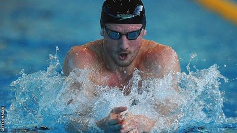 Michael Jamieson competes at the 2015 British Swimming Championships