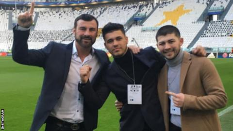 Joe Calzaghe and his sons visit Juventus as guests of the club