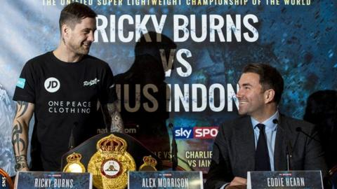 Ricky Burns and promoter Eddie Hearn